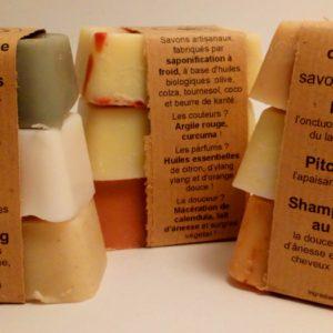 coffret 3 savons surgras nature, douceur, sans huile essentielle, f'ânes de carottes
