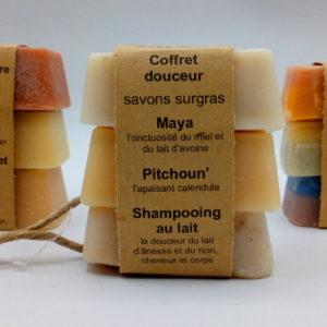savons naturels coffret douceur savonnerie f'ânes de carottes