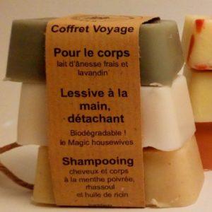 savon naturel coffret 3 savons, savonnerie